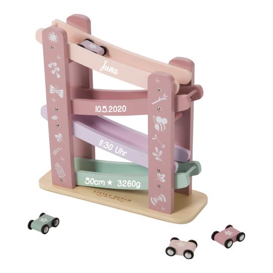 Holz Rennbahn rosa