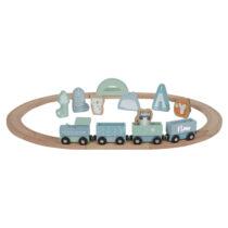 Little Dutch Eisenbahn mit Schienen blau